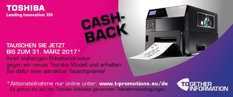 Toshiba Cashback Aktion 2017!